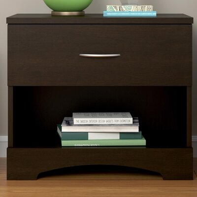 Kourtney 1 Drawer Nightstand Finish: Espresso