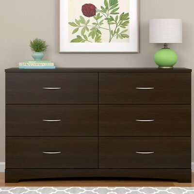 Poulson 6 Drawer Dresser Color: Espresso