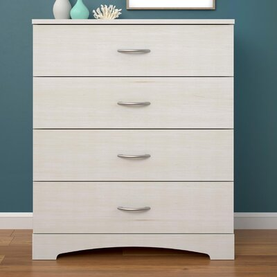 Kourtney 4 Drawer Dresser Finish: Ivory