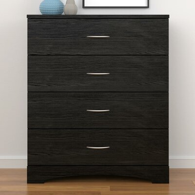 Poulson 4 Drawer Dresser Color: Black