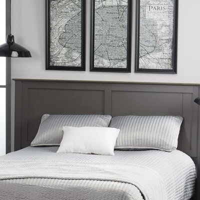 Myles Queen Panel Headboard Color: Dark Gray