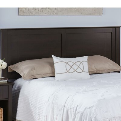 Myles Queen Panel Headboard Finish: Espresso