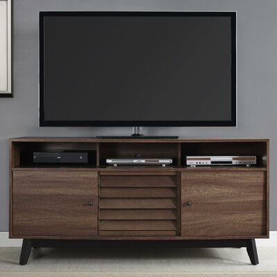 Dover 59 TV Stand Color: Brown Walnut