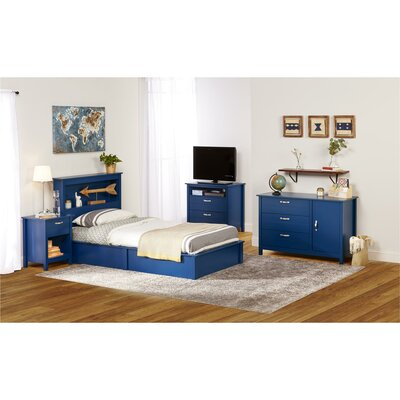 Terry Platform Bed Size: Twin, Color: Blue