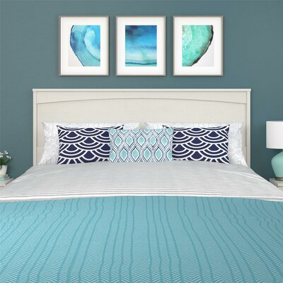 Poulson Panel Headboard Size: Full, Color: Vintage White
