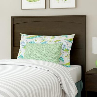 Poulson Panel Headboard Size: Twin, Color: Espresso