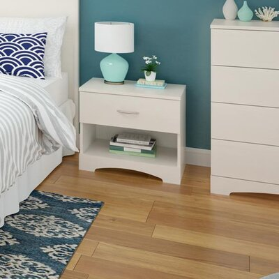 Poulson 1 Drawer Nightstand Finish: Vintage White