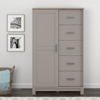 Callowhill 5 Drawer Gentlemans Chest Color: Gray