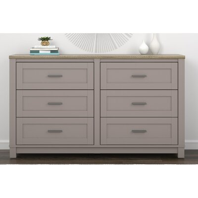 Callowhill 6 Drawer Dresser Color: Gray