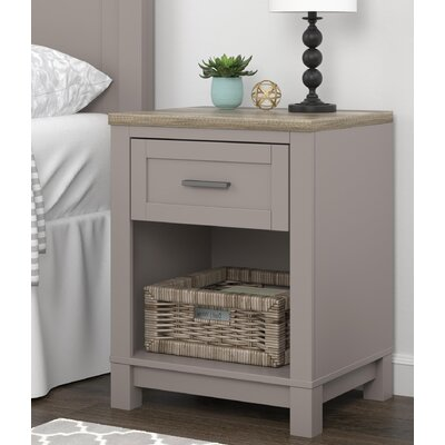 Callowhill 1 Drawer Nightstand Color: Gray