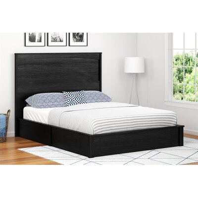 Poulson Platform Bed Size: Queen, Color: Black