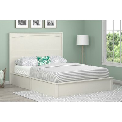 Poulson Platform Bed Size: Twin, Color: Vintage White