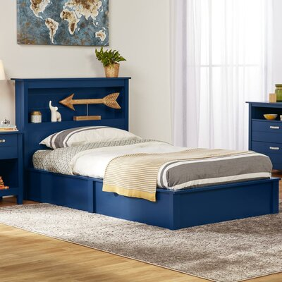 Alain Twin Platform Bed Bed Frame Color: Blue