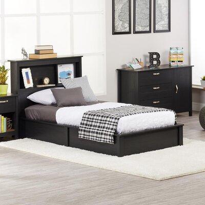 Alain Twin Platform Bed Bed Frame Color: Black