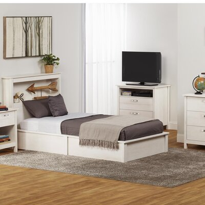 Alain Twin Platform Bed Bed Frame Color: Vintage White