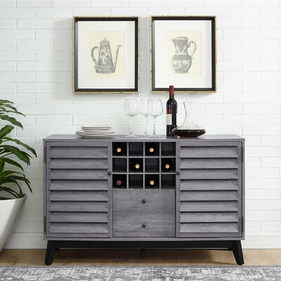 Dover Wine Bar Cabinet Finish: Gray Oak