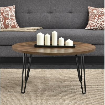 Bronstein Retro Round Coffee Table Color: Walnut