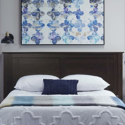 Myles Queen Panel Headboard Color: Espresso