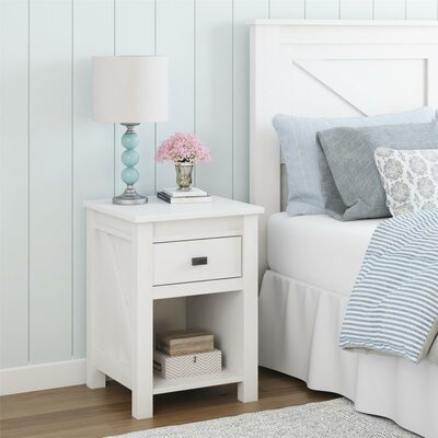 Cleveland 1 Drawer Nightstand Color: Ivory Oak