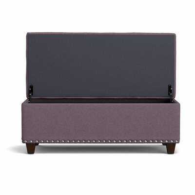 Fetter Tufted Wall Hugger Storage Ottoman Upholstery: Purple