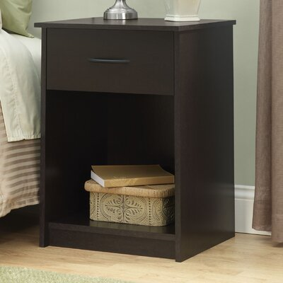 1 Drawer Nightstand Finish Black Forest