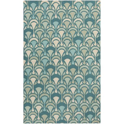 Voyages Teal Geometric Area Rug Rug Size: Rectangle 5 x 8