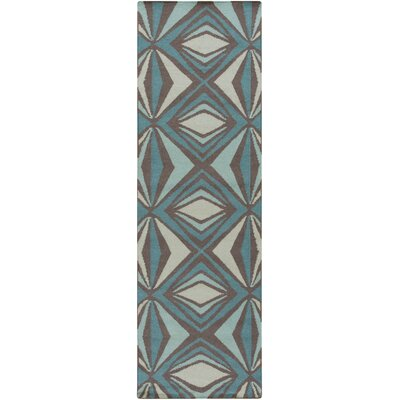 Voyages Sea Foam Geometric Area Rug Rug Size: Runner 26 x 8