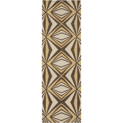 Voyages Brown Geometric Area Rug Rug Size: Runner 26 x 8