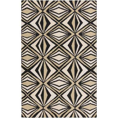 Voyages Black Geometric Area Rug Rug Size: Rectangle 36 x 56