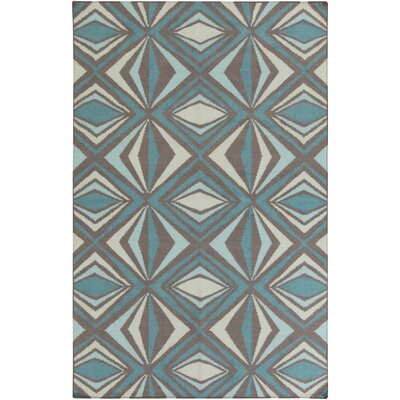 Voyages Sea Foam Geometric Area Rug Rug Size: 8 x 11