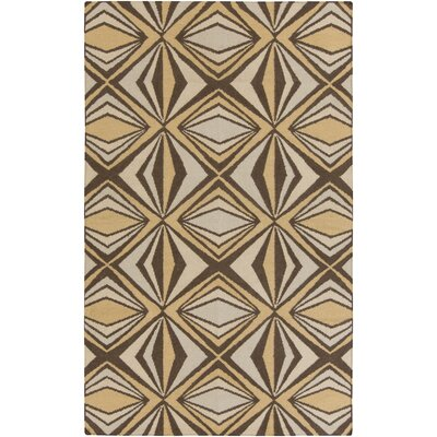 Voyages Brown Geometric Area Rug Rug Size: 5 x 8