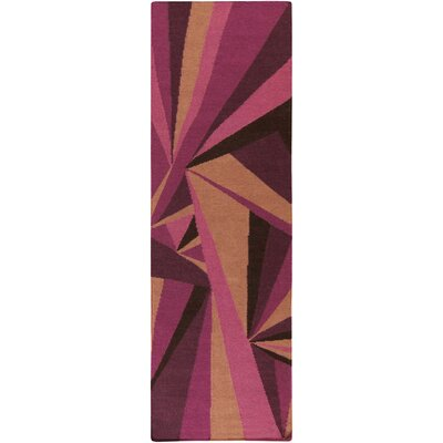 Voyages Eggplant Geometric Area Rug Rug Size: Runner 26 x 8