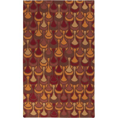 Voyages Cherry Geometric Rug Rug Size: Rectangle 36 x 56