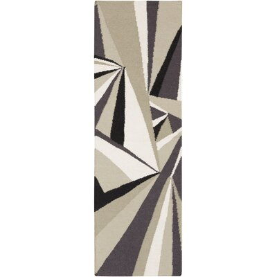 Voyages Light Gray Geometric Area Rug Rug Size: Runner 26 x 8