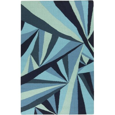 Voyages Navy Geometric Area Rug Rug Size: Rectangle 5 x 8