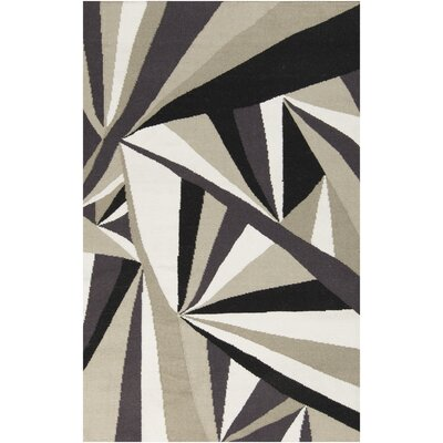 Voyages Light Gray Geometric Area Rug Rug Size: Rectangle 8 x 11