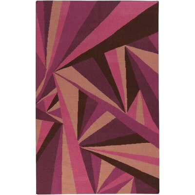 Voyages Eggplant Geometric Area Rug Rug Size: Rectangle 36 x 56