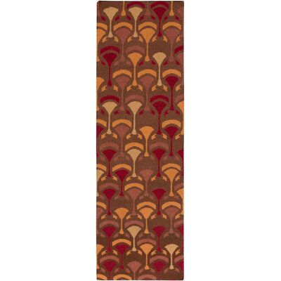 Voyages Cherry Geometric Rug Rug Size: Runner 26 x 8