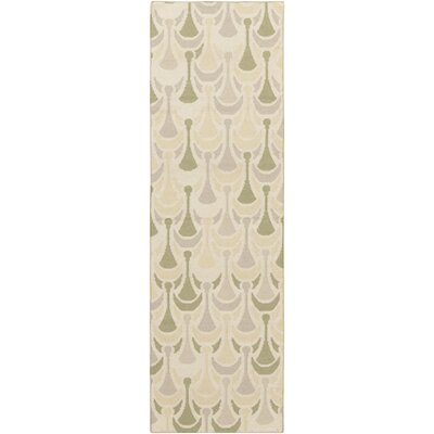 Voyages Olive Geometric Area Rug Rug Size: Runner 26 x 8