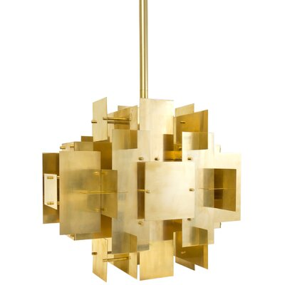 Puzzle 2-Light Shaded Chandelier