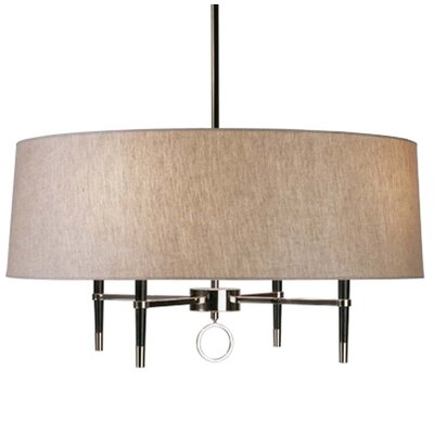 Ventana 4-Light Drum Chandelier Finish: Polished Nickel