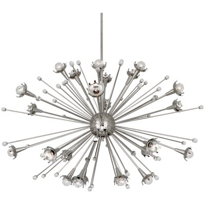 24-Light Sputnik Chandelier Finish: Polished Nickel