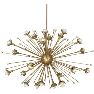 24-Light Sputnik Chandelier Finish: Antique Brass