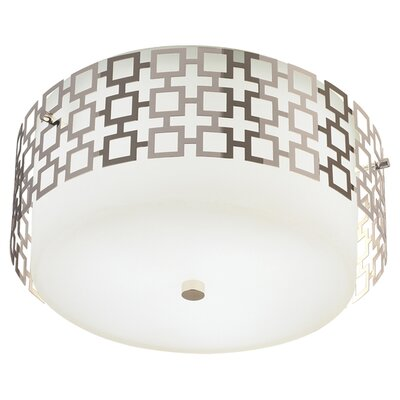 Jonathan Adler 3-Light Parker Flush Mount Finish: Polished Nickel