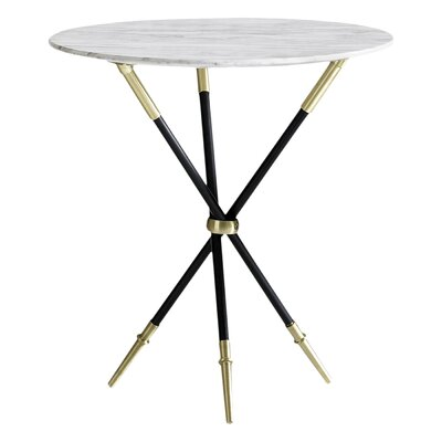 Rider Tripod End Table Finish: Black / Brass