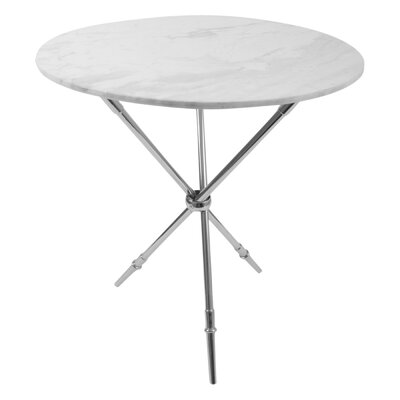Rider Tripod End Table Finish: Polished Nickel