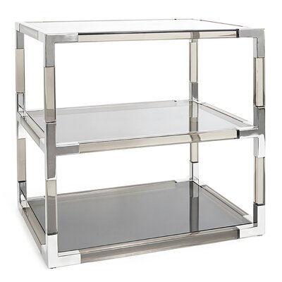Jacques 2 Tier Table Color: Nickel
