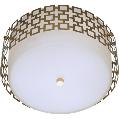 3-Light Flush Mount Finish: Antique Brass
