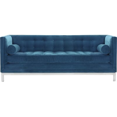 Lampert Chesterfield Sofa Upholstery: Blue