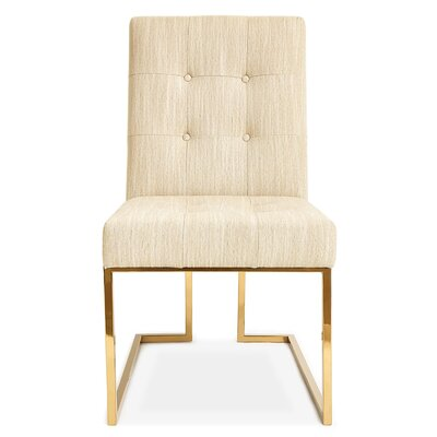 Goldfinger Dining Chair Upholstery: Linen - Natural